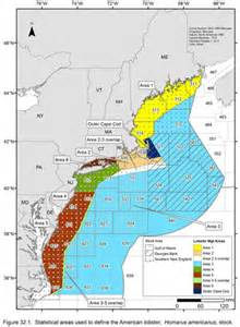 american areas map american lobster greater atlantic regional fisheries office