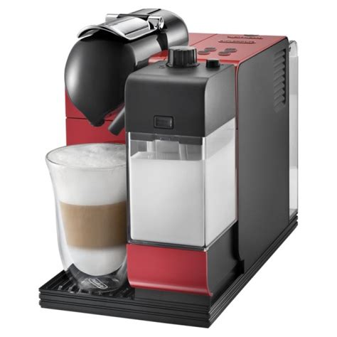 Delonghi Nespresso Coffee Machine, Lattissima Plus in Red