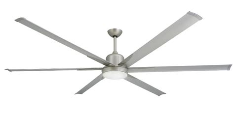 84 inch ceiling fan 84 inch titan brushed nickel extra large ceiling fan by