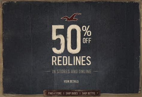 hollister outlet printable coupons additional 50 off redlines at hollister co frugal