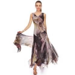 silk dresses floral print v neck silk dress with shawl at belonda