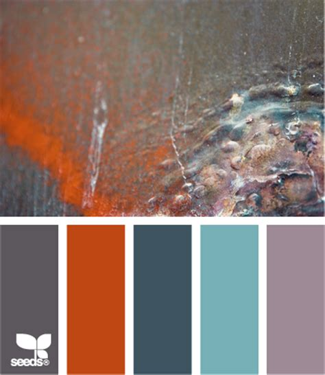 weekend colour inspiration rusted patina colour scheme