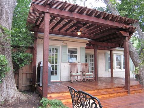 Patio Cover Wood Deck   Dallas   by Texas Best Fence
