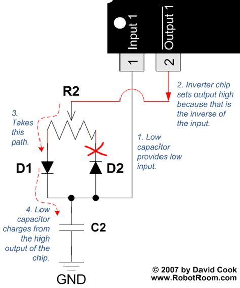 charge capacitor with diode welcome to my how to make a pwm circuit without a microcontroller