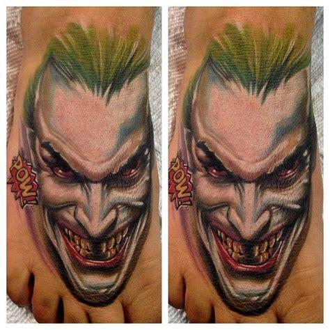 joker foot tattoo sick joker foot piece by audie fulfer jr the joker
