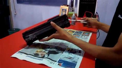 Refill Printer Hp Laserjet P1102 cara mudah refill toner printer hp laserjet p1102