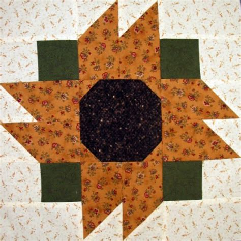 Sunflower Quilt Block Pattern by Quilting Blogs What Are Quilters Blogging About Today