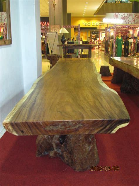Meja Kayu Kelengkeng meja trembesi solid dan alami 5mx1mx12cm crown furniture indonesia