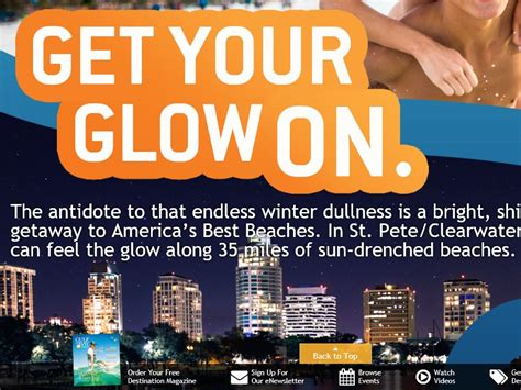 Visit St Pete Clearwater Sweepstakes - the st petersburg clearwater get your glow on sweepstakes
