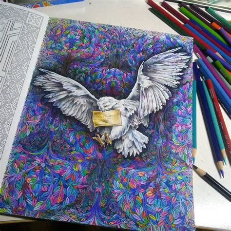 harry potter coloring book whsmith 82 best images about colouring creations on