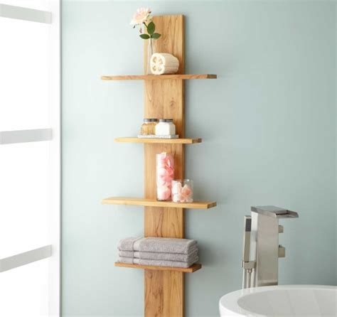 Bathroom Corner Shelves Wood Decorative Bathroom Shelves With Wood Standing Corner Shelves Decolover Net