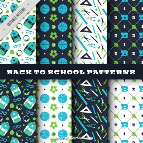 school pattern freepik patterns for the back to school vector free download