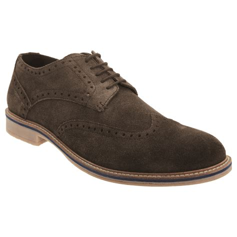 oxford shoes or brogues roamers mens real suede leather 5 eye lace up brogue