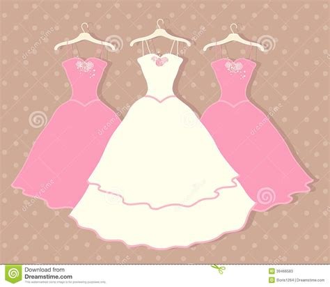 Wedding Dress Stock Vector   Image: 39466583