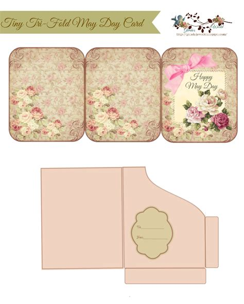 tri fold thank you card template glenda s world tiny tri fold may day card pocket
