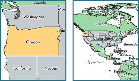oregon state location map where is oregon state where is oregon located in the