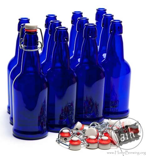 wholesale swing top bottles 16oz cobalt blue ez cap swing top bottles case of 12 bottles