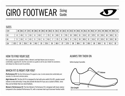 road bike shoes sizing cycling shoe size chart giro specialized mtb shoes size