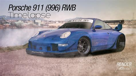 porsche 996 rwb porsche 911 996 rwb virtual tuning render40four youtube