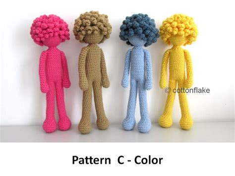 Amigurumi Human Pattern | pattern c color doll amigurumi crochet human body