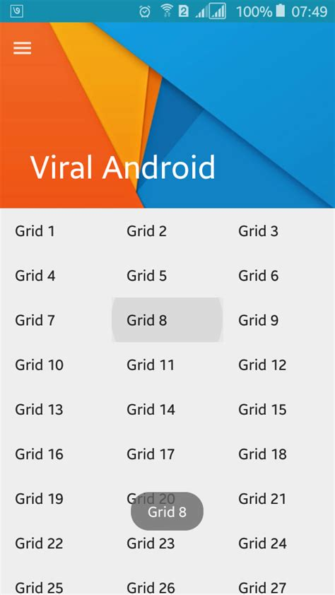 gridview layout animation gridview parallax header android exle viral android