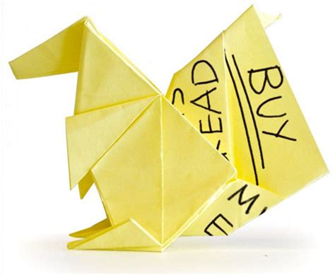 Origami Post It - you won t believe the origami creations these artists