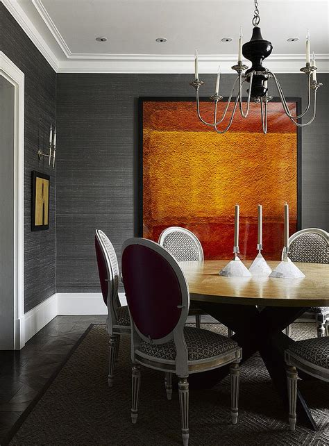dining room wall paper 25 elegant and exquisite gray dining room ideas