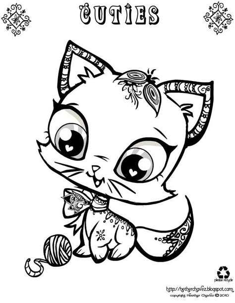 Coloringpages Cuties Heather Chavez Free Coloring Pages
