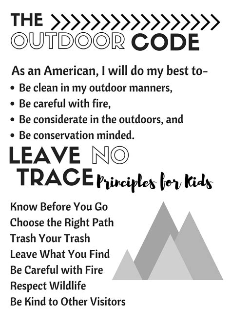 Leave No Trace In The Outdoors cub scouts outdoor code leave no trace principles for