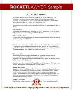 Contract For Accounting Services Template by Bookkeeping Contract Agreement With Template