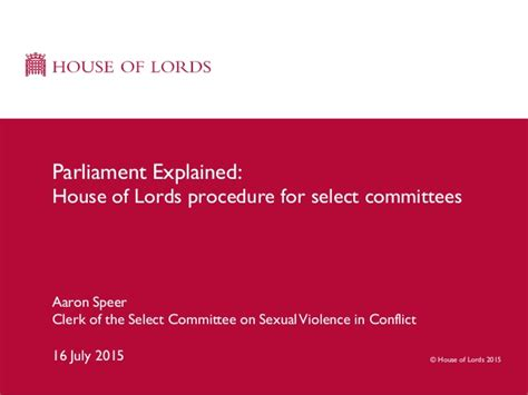house select committee house of lords select committees parliament explained event 160715