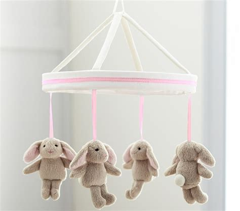 Pottery Barn Crib Mobile by Light Pink Bunny Mobile Pottery Barn
