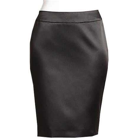 plus size black bridal satin pencil skirt elizabeth s