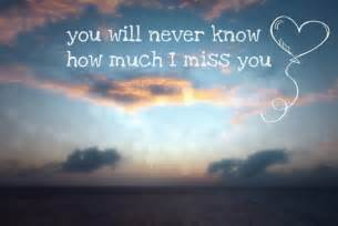 You will never know how much i miss you missing you quote