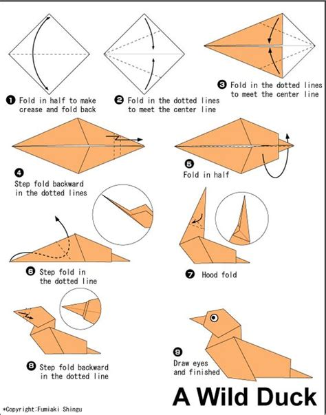 How To Fold A Paper Duck - the world s catalog of ideas