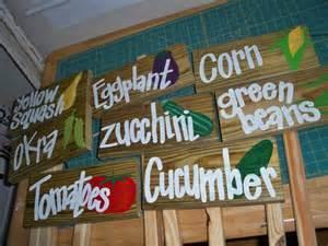 vegetable garden signs wooden garden signs