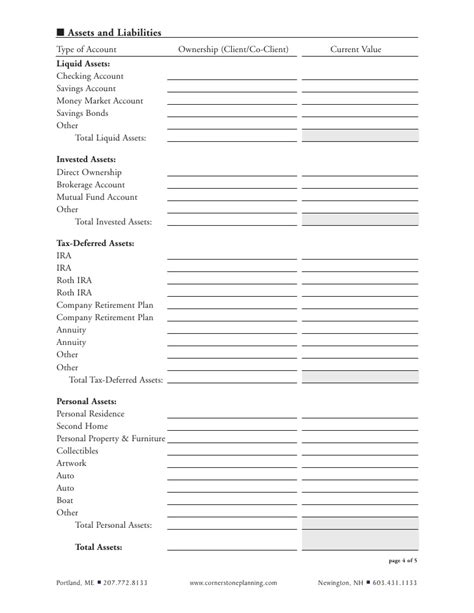 boat insurance questionnaire financial planning questionnaire