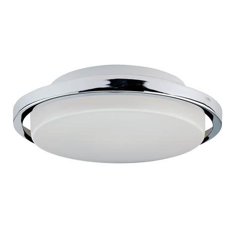 led bathroom ceiling light circular fitting with opal