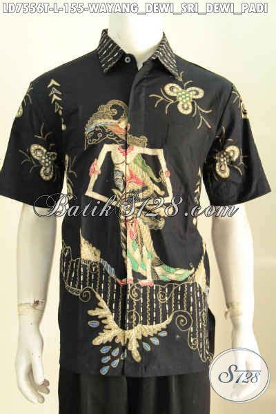 Kemeja Panjang Batik Padi jual baju batik wayang motif dewi sri baju batik