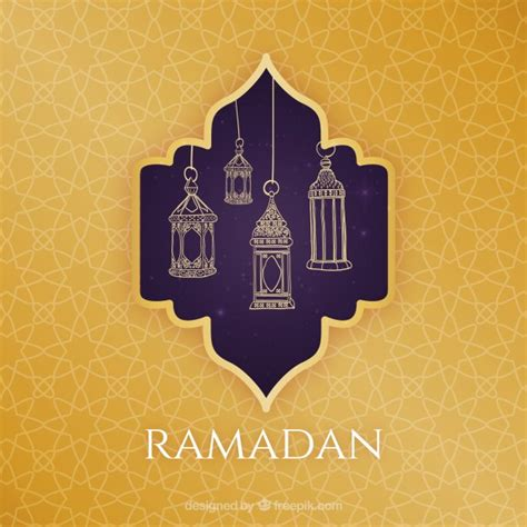 ramadan pattern vector free islamic greeting card template for ramadan kareem or
