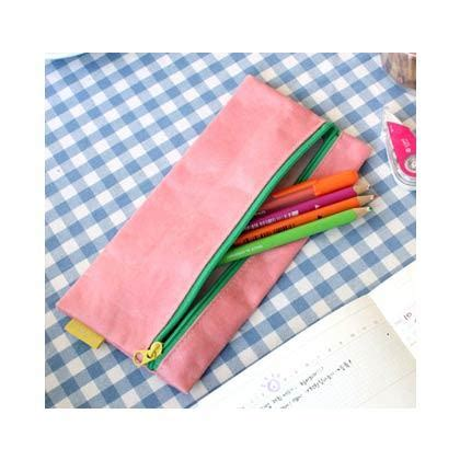 Make Up Cosmetic Pouch leather pouch make up bags cosmetic pouch pencil pink