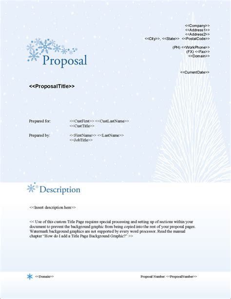 design proposal title proposal pack outdoors 3 software templates sles
