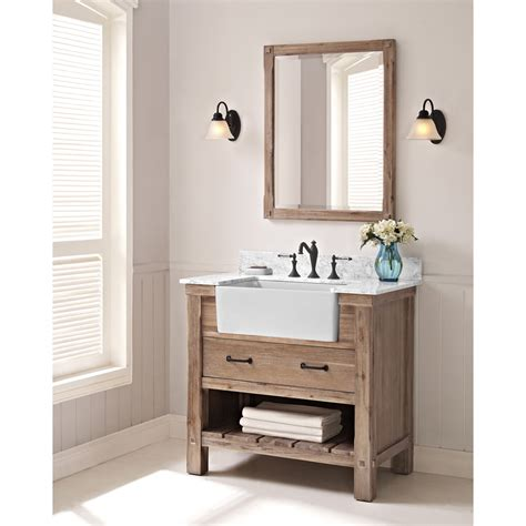 farmhouse bathroom vanity mirror fairmont designs napa 36 quot farmhouse vanity sonoma sand free shipping modern bathroom