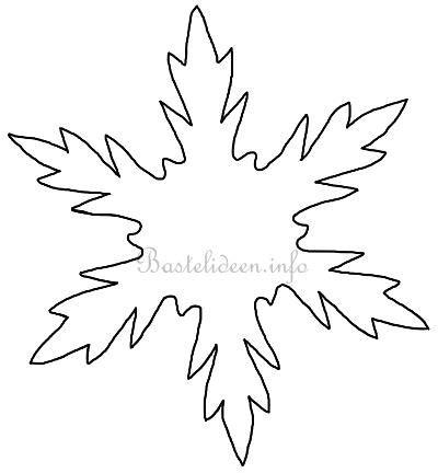 Kostenlose Vorlage Schneeflocke bastelvorlage weihnachten winter schneeflocke 2
