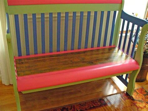 baby crib bench baby crib repurposed to bench cool house ideas