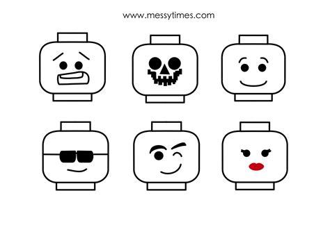 lego minifigure head template www imgkid com the image