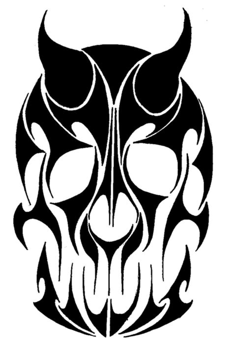 tribal skull tattoo design tribal skull design by morhandir on deviantart