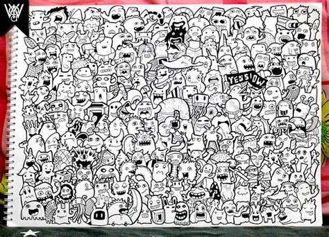 up doodle doodle 225 monsters on doodle on behance