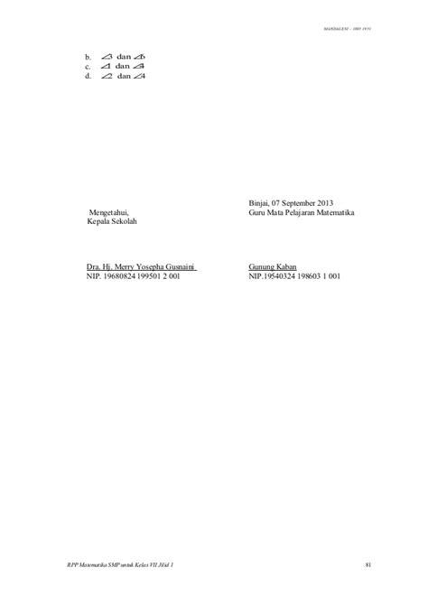 2 Bright An Course Kelas Viii Smp Kur 2013 Revisi Erlangga rpp matematika kelas vii 5