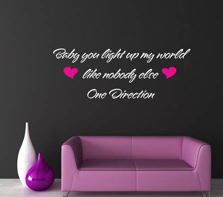 song you light up the room wall decal quotes one direction wall decals